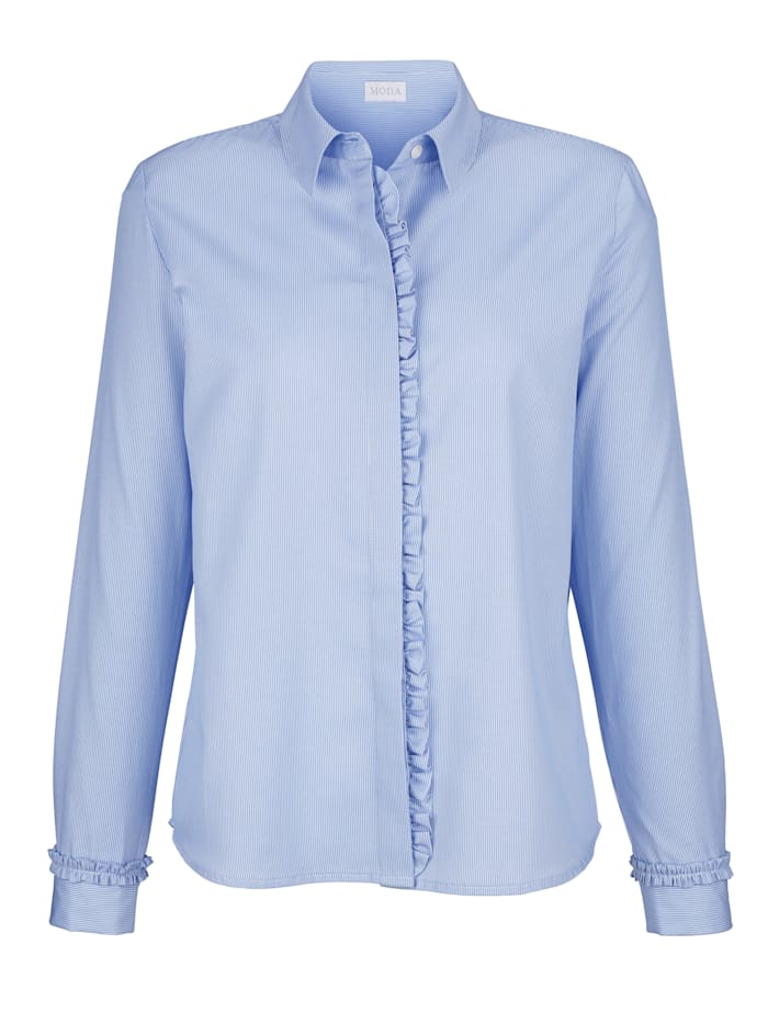 Blouse with decorative ruffles
