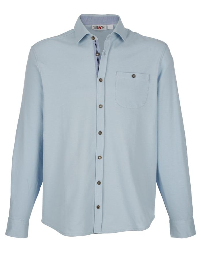 Roger Kent Poloshirt met borstzakje, Lichtblauw