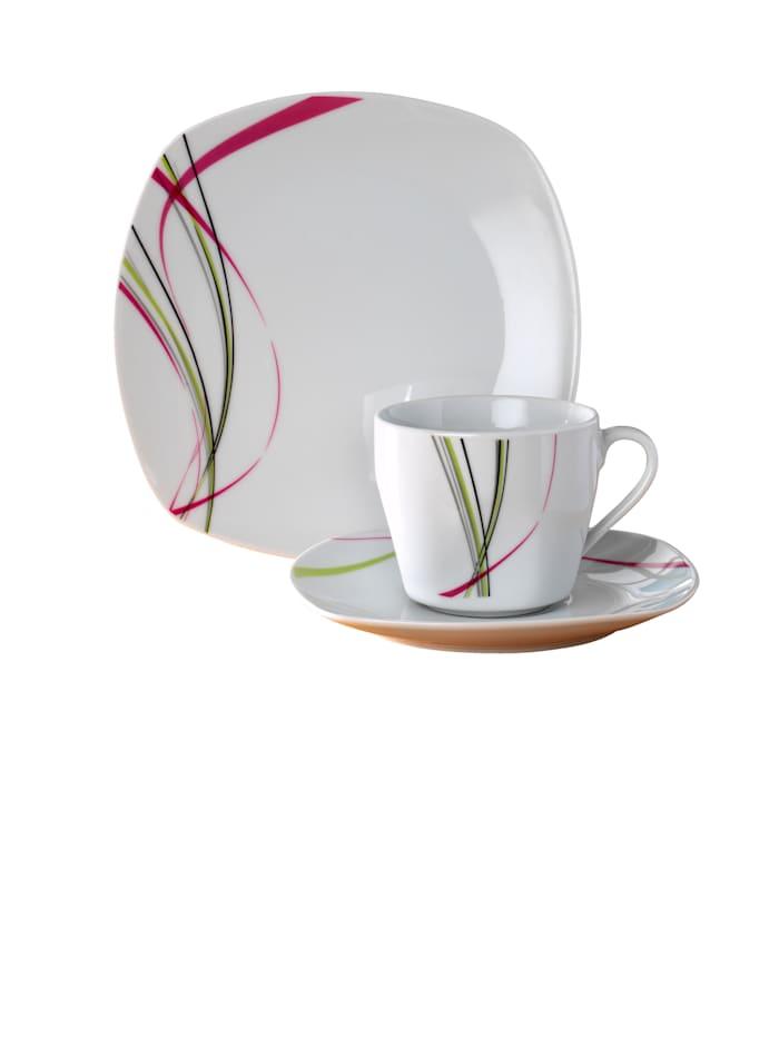 Van Well Kaffeservise i 18 deler, Multicolor