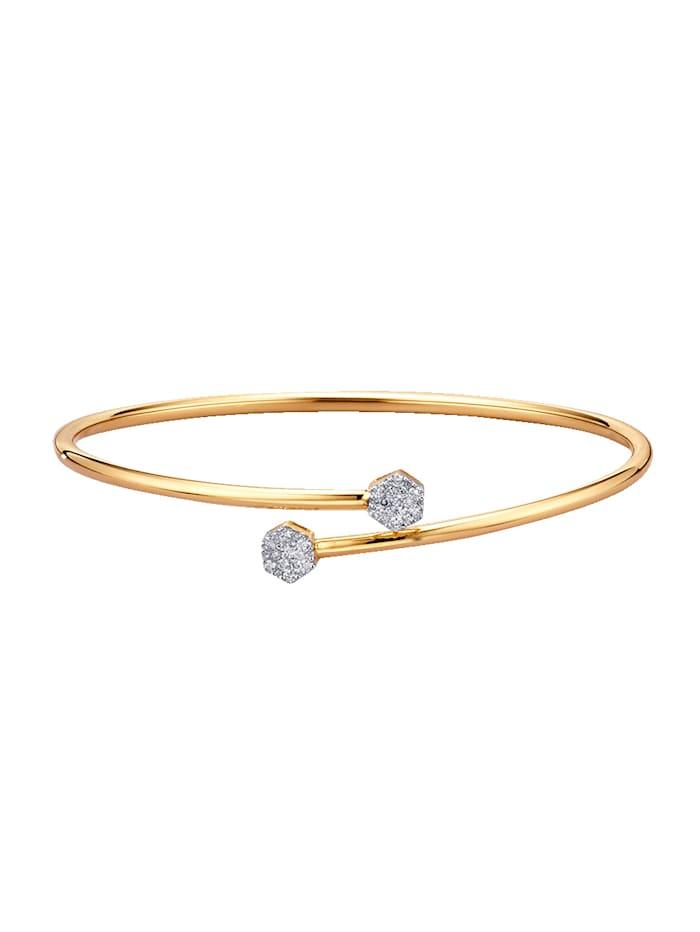 Amara Diamants Bracelet avec brillants, Coloris or jaune