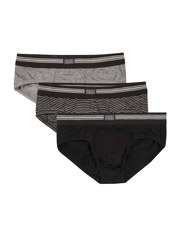 Jockey Slip, 3er Pack, black stripe