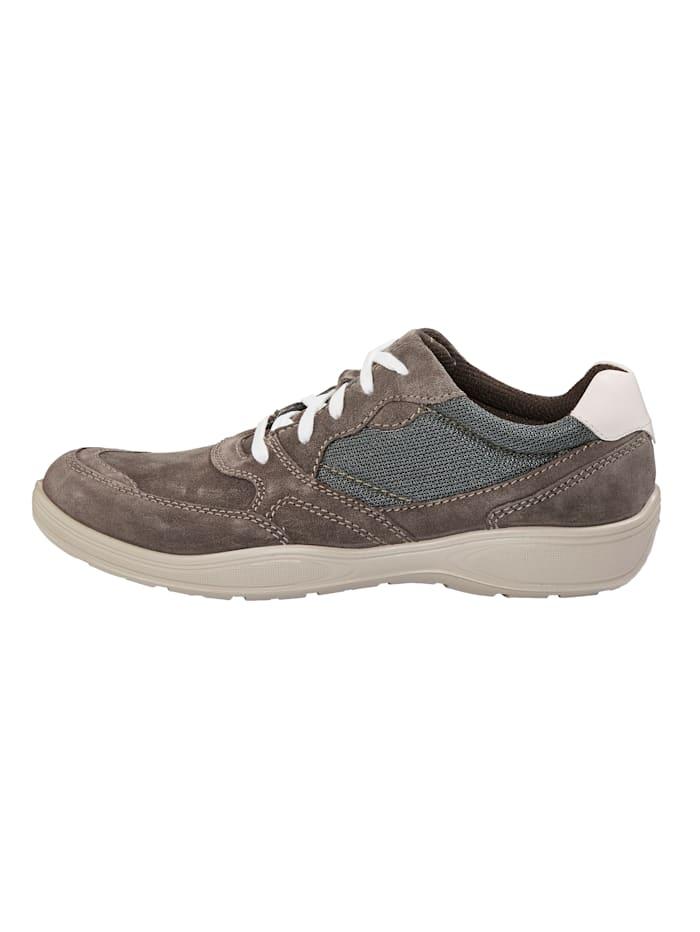 Šnurovacia obuv s kontrastným prešívaním