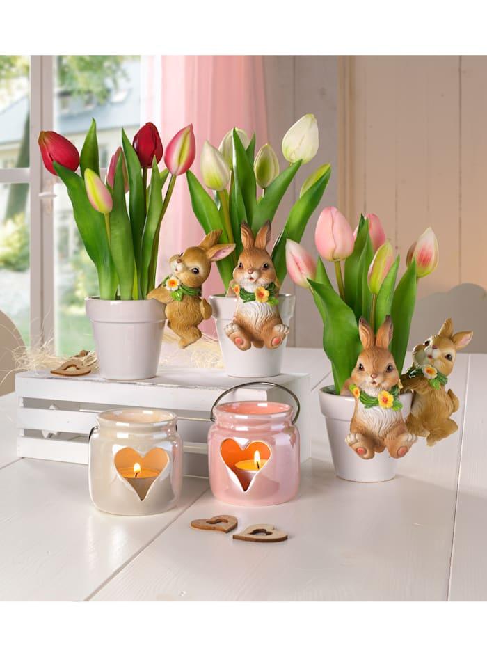 Gasper Tulpen im Keramiktopf, Lila