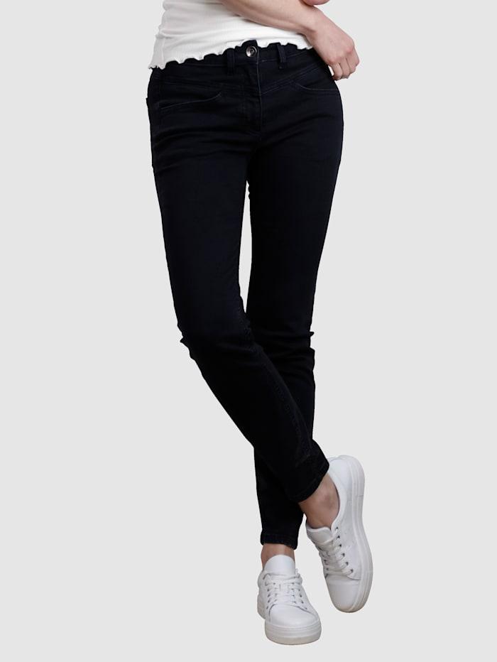 Laura Kent Jeans mit dekorativer Naht, Black