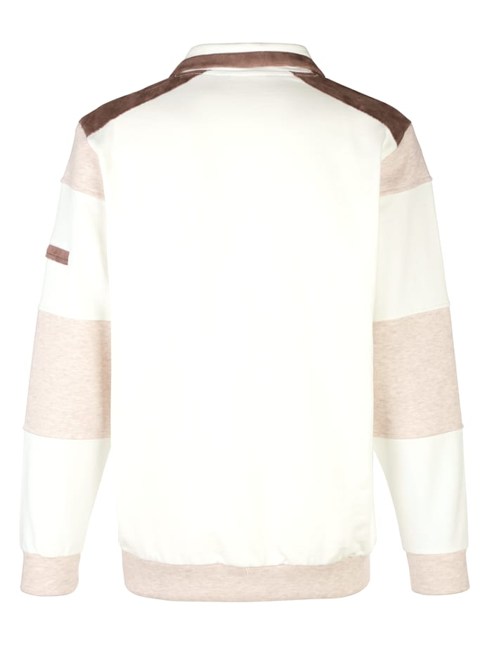 Sweatshirt mit Veloursapplikationen