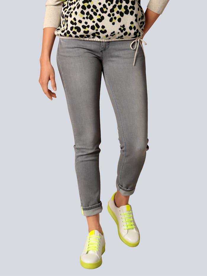 OUI Jeans mit Kontrastdetails, Dark grey