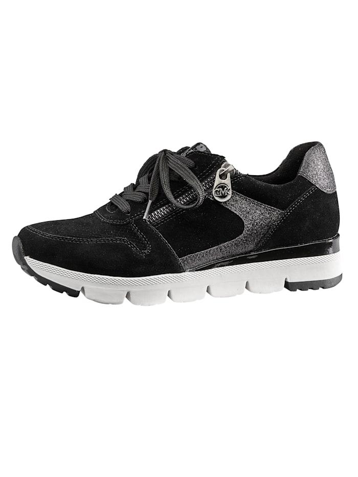 Marco Tozzi Sneaker met uitneembaar voetbed, Zwart