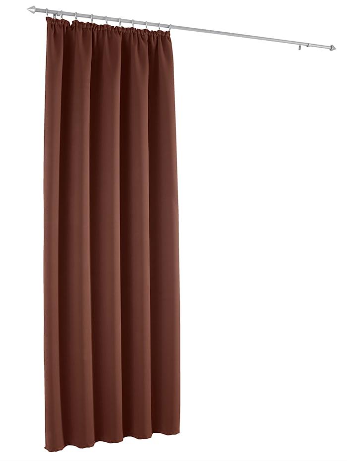 Webschatz Mørkleggingsgardin -Marni-, brun