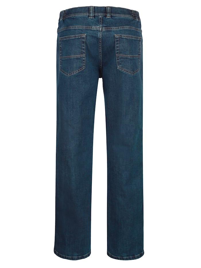 5-Pocket Jeans mit seitlichem Dehnbund