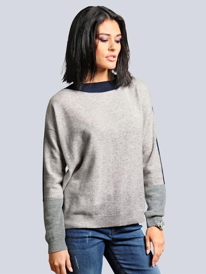 Alba Moda Pullover aus hochwertigem, kuschelweichem Kaschmir, Grau
