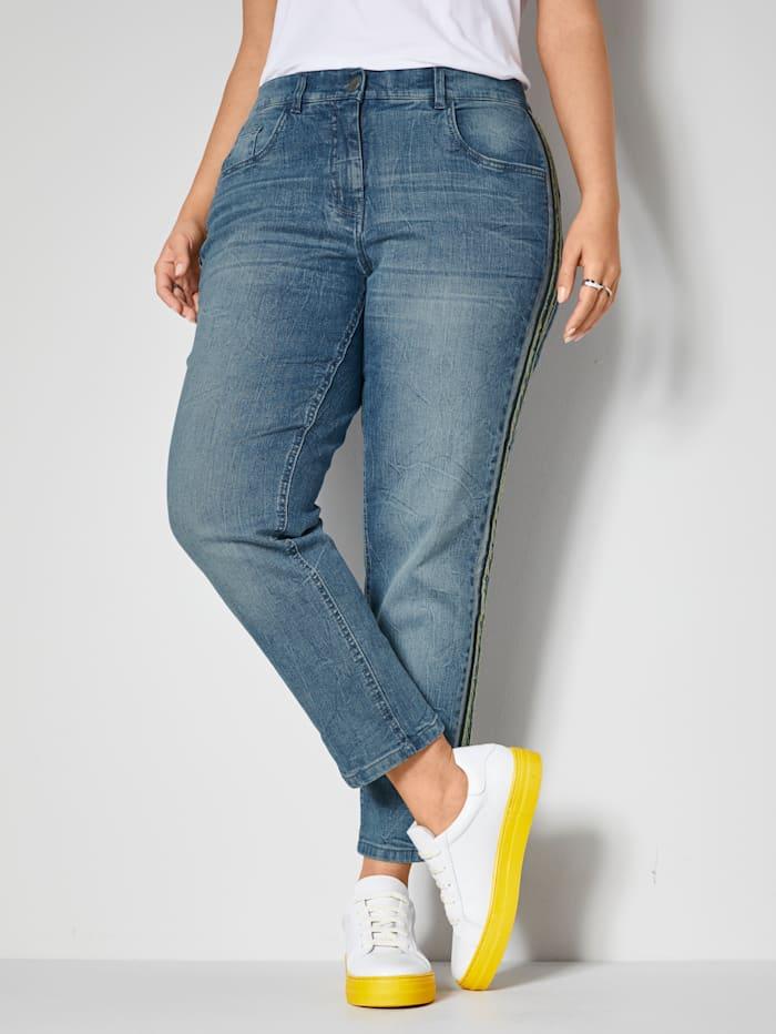 Janet & Joyce Jeans met stretch, Blue stone