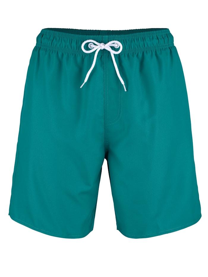 Maritim Zwemshort met praktisch zakje met klittenband achter, Smaragdgroen