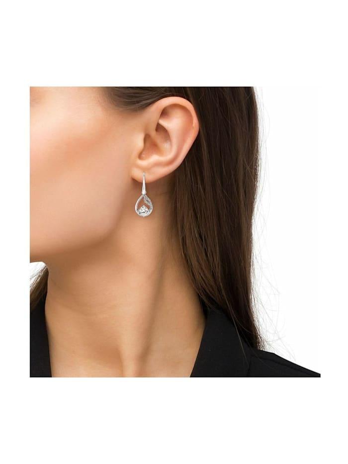 Ohrring für Damen, glänzendes Silber 925, Zirkonia