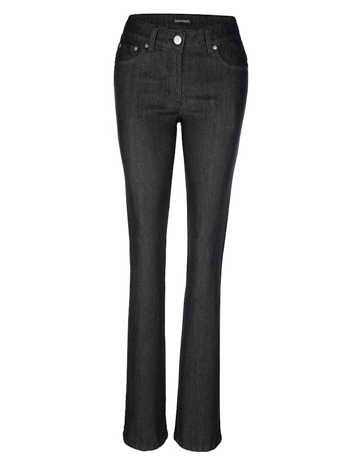 Dress In Jeans Laura Straight mit Strasssteinen auf den Gesäßtaschen, Schwarz