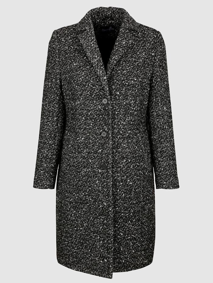 Manteau en laine mélangée au bel aspect poivre et sel