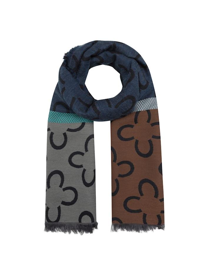 Codello Logo-Schal mit Baumwolle und Wolle, dark blue