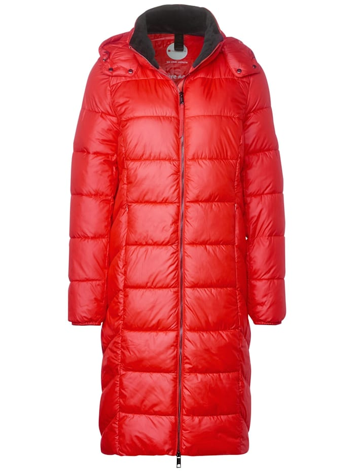Street One Steppmantel mit Zipper, power red