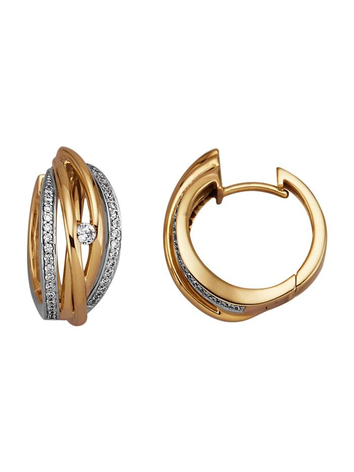 Amara Diamant Klappcreolen mit 70 Brillanten, Gelbgoldfarben