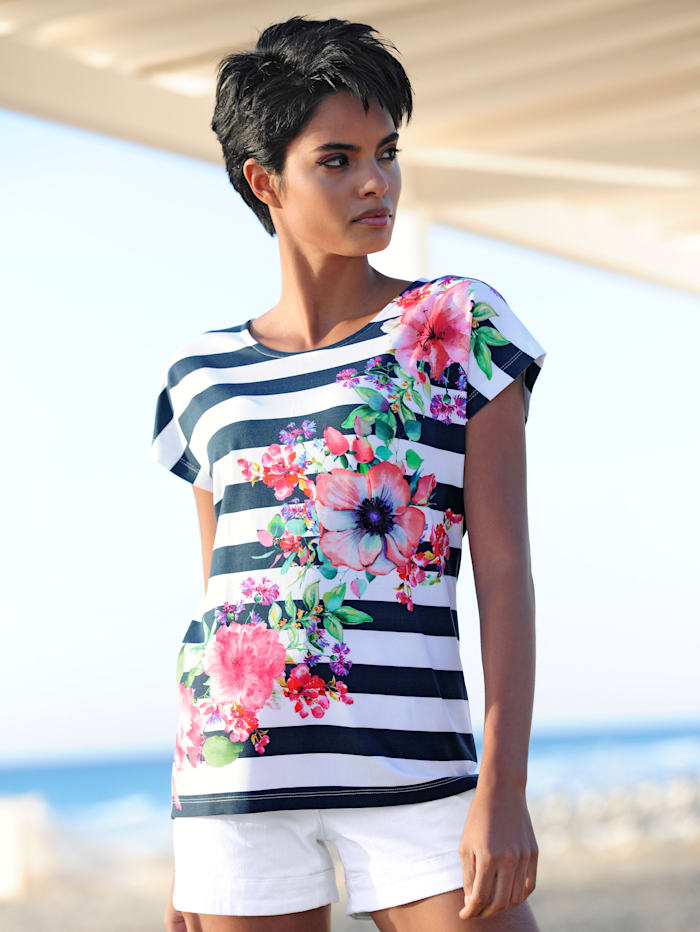 Strandshirt mit Streifendruck