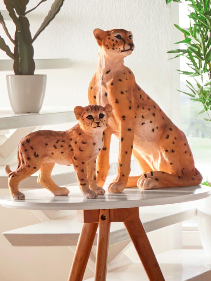 KLiNGEL Dekofigur Gepardenjunge, Beige
