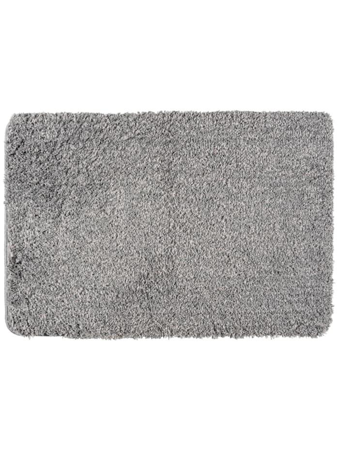 Wenko Badteppich Mélange Light Grey, 60 x 90 cm, Mikrofaser, Polyester/Mikrofaser: Grau - Hellgrau