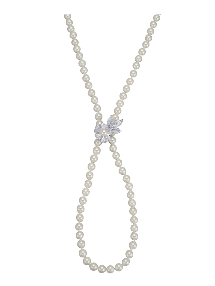 Amara Perles Collier en perles de culture d'Akoya, Blanc