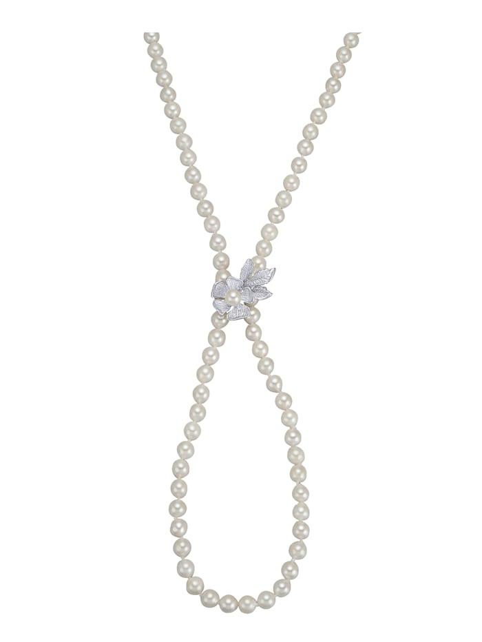Diemer Perle Collier en perles de culture d'Akoya, Blanc