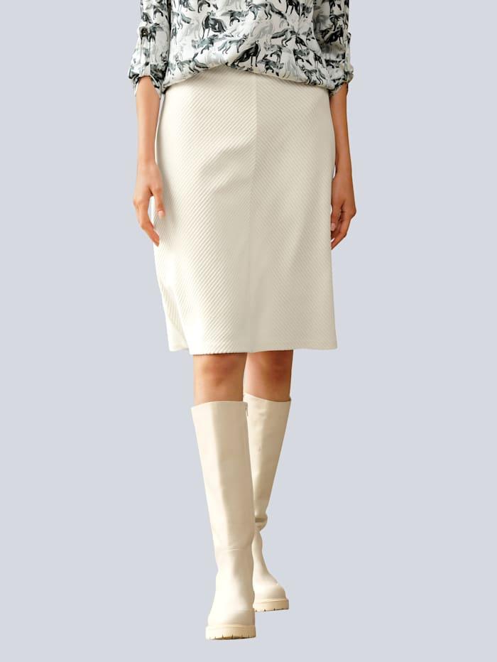 Alba Moda Rock in softer Feincordqualität, Off-white