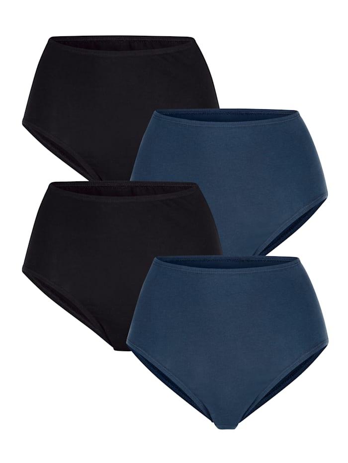 Harmony Taillenslips im 4er-Pack, Marineblau/Schwarz