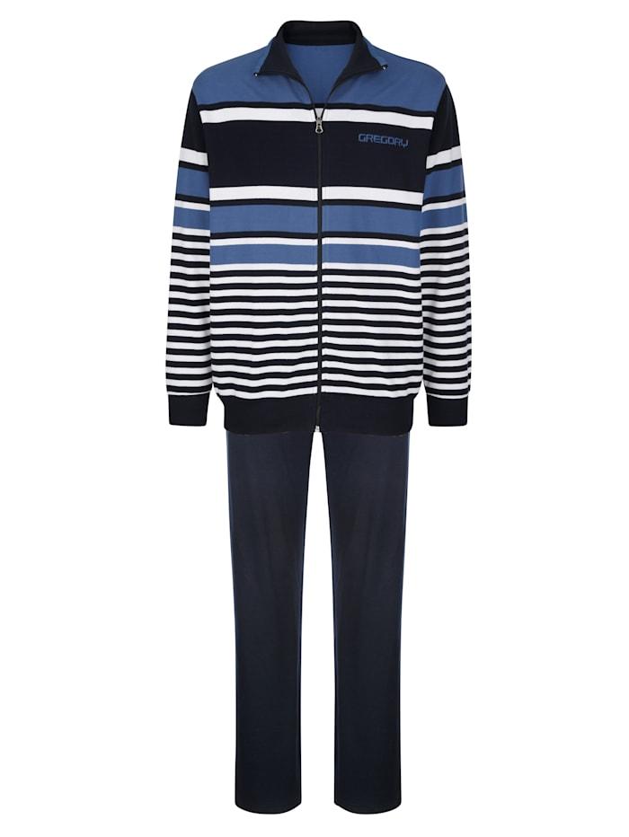 G Gregory Tenue de loisirs en jersey piqué, Marine/Blanc/Bleu foncé
