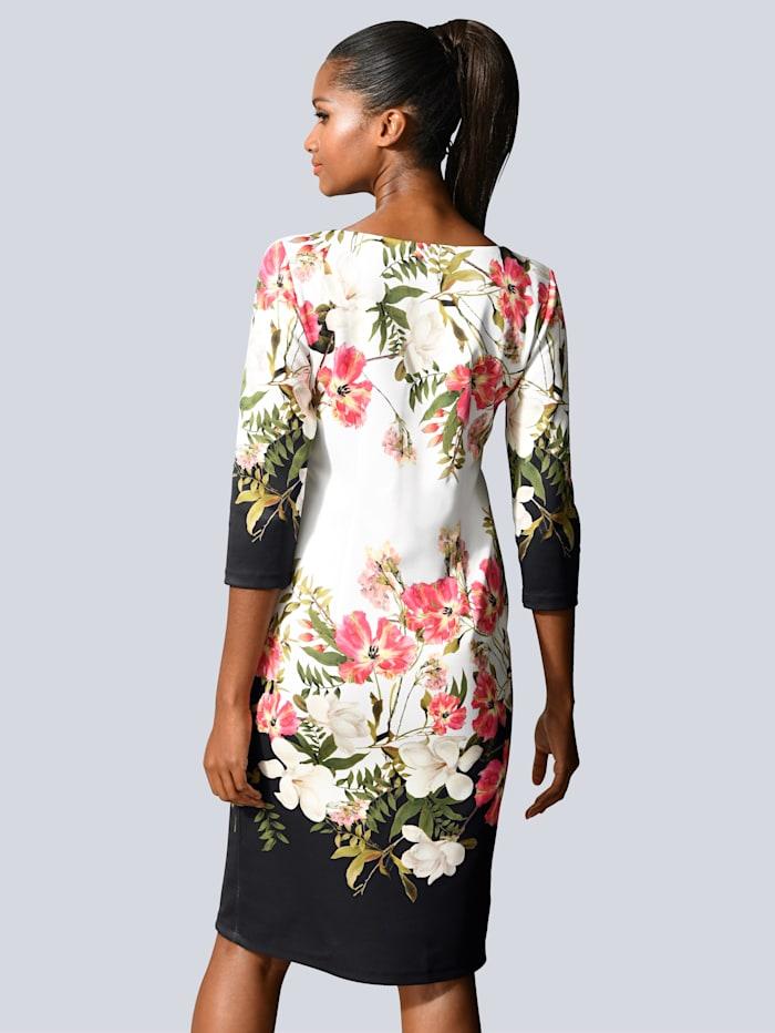 Kleid mit Blumen-Bordüren-Druck