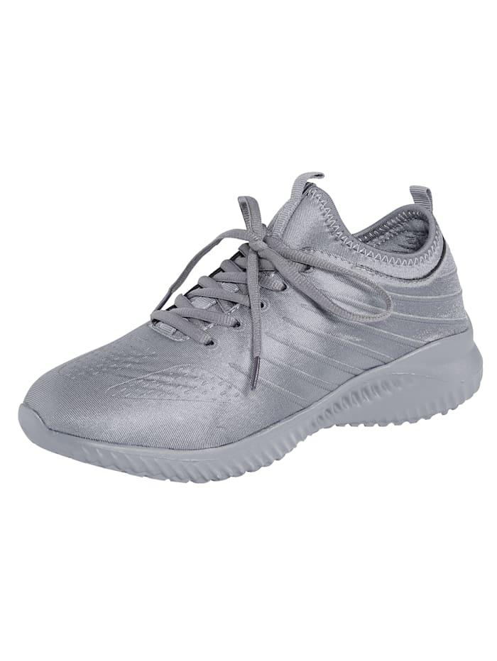 Priority Sneaker in Satin-Optik, Grau