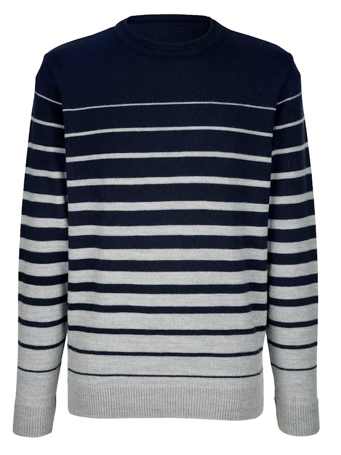Pullover mit Kontraststreifenmuster