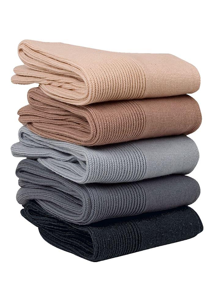 GHZ Chaussettes spécial confort 5 paires, Beige