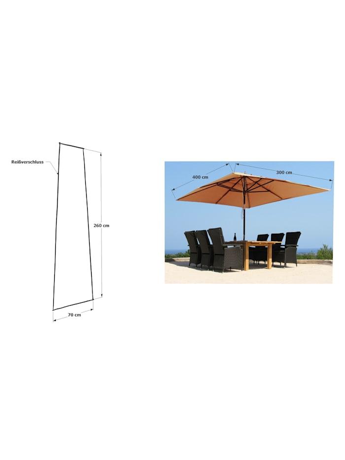 Grasekamp Schirmhülle 260x70cm Polyethylen mit  Reißverschluss und Montagestab, Transparent