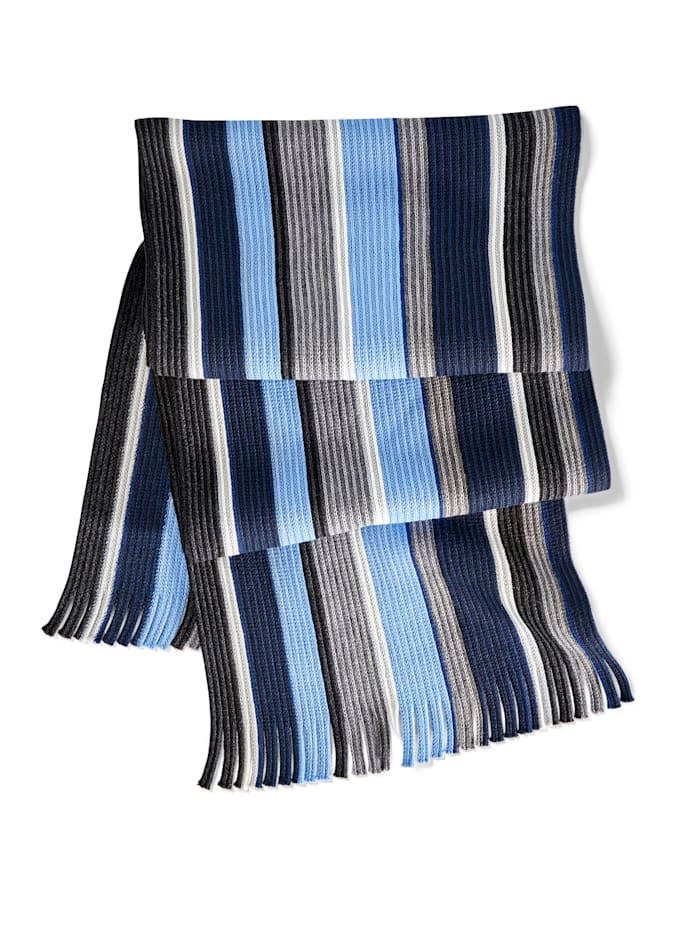 BABISTA Sjaal met strepen, blauw/grijs