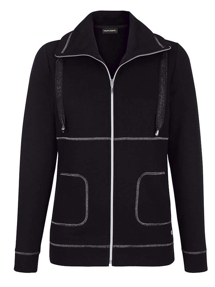 Sweat bunda se švy ve stříbrné barvě