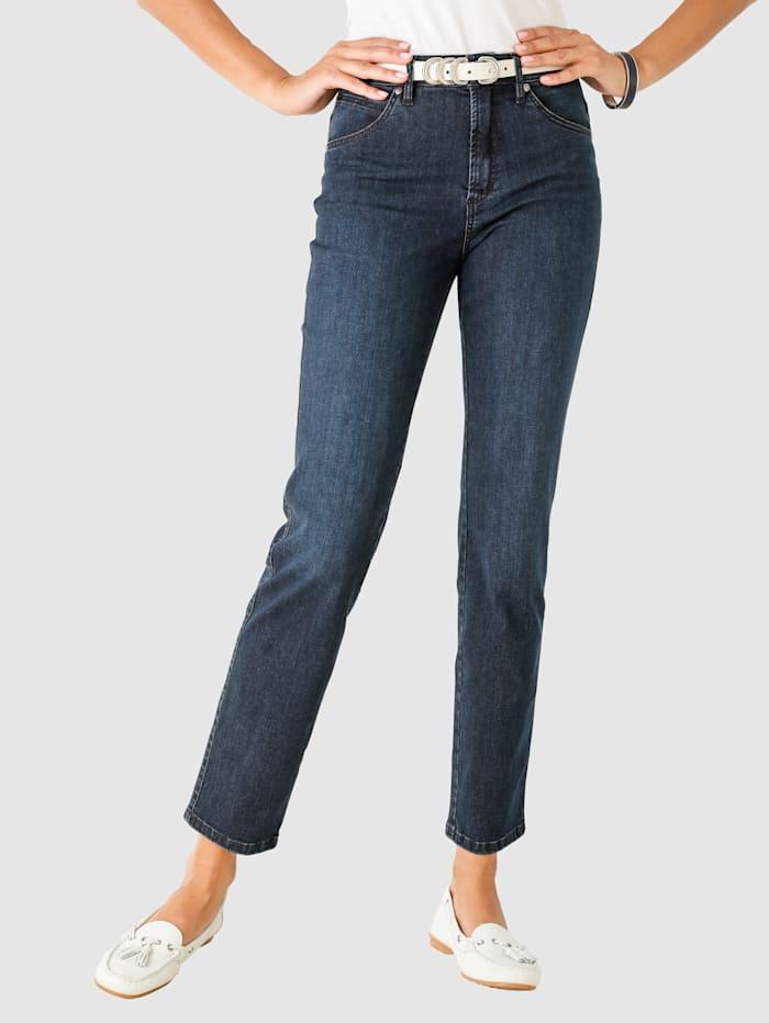 Toni Jeans med vasket effekt, Blå