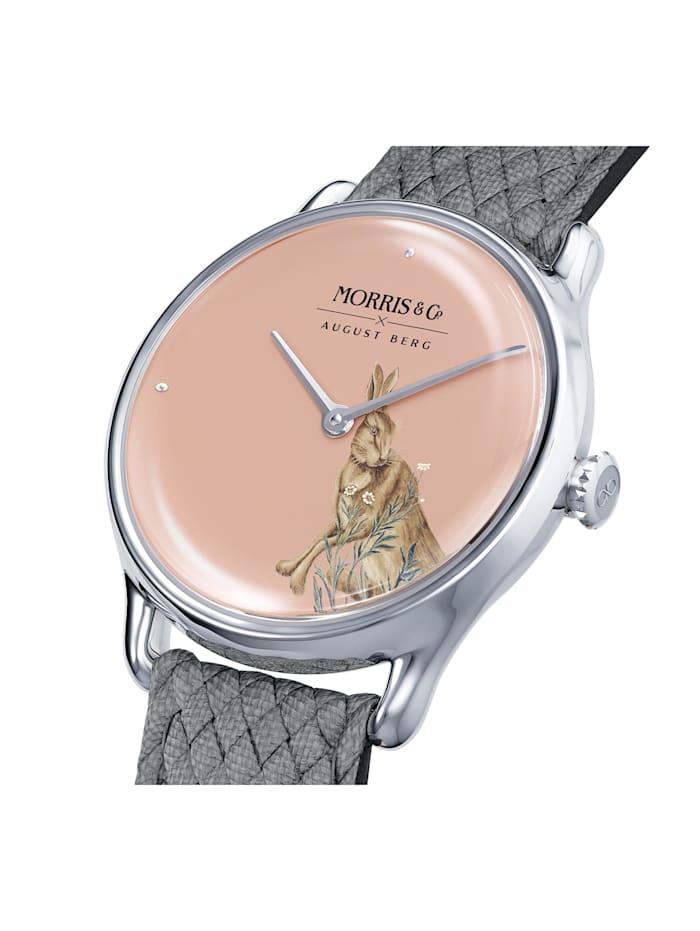 Uhr MORRIS & CO Silver Grey Perlon 30mm