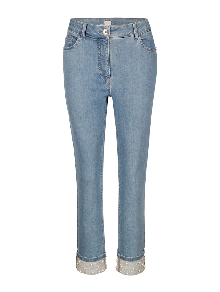 Jeans mit Perlen
