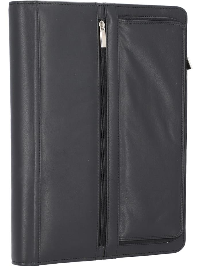 Alassio Carpo Schreibmappe Leder 36 cm, schwarz