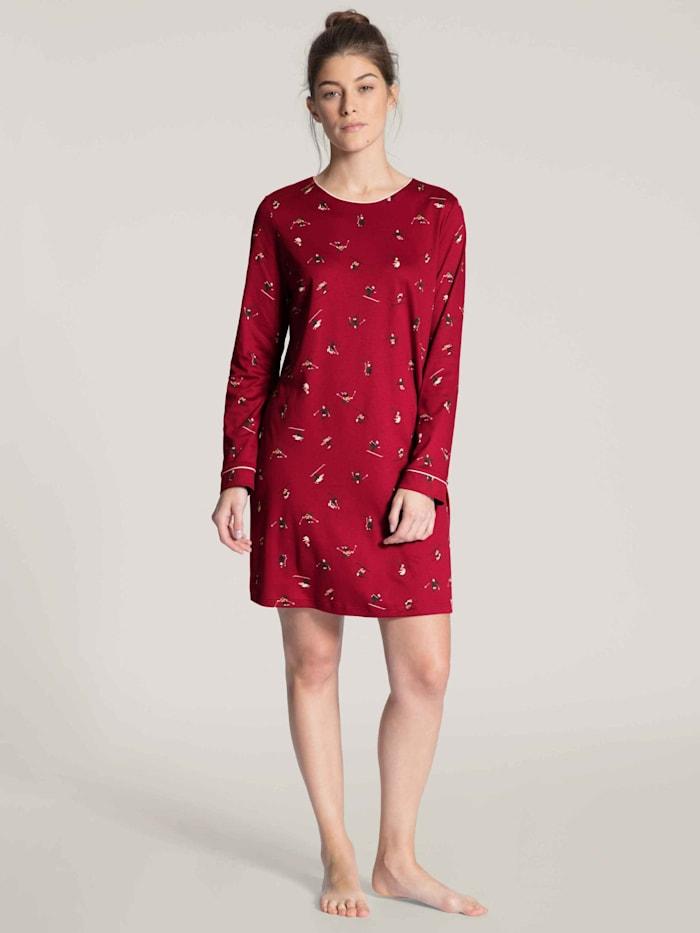 Calida Sleepshirt, 90cm Länge STANDARD 100 by OEKO-TEX zertifiziert, Rio Red