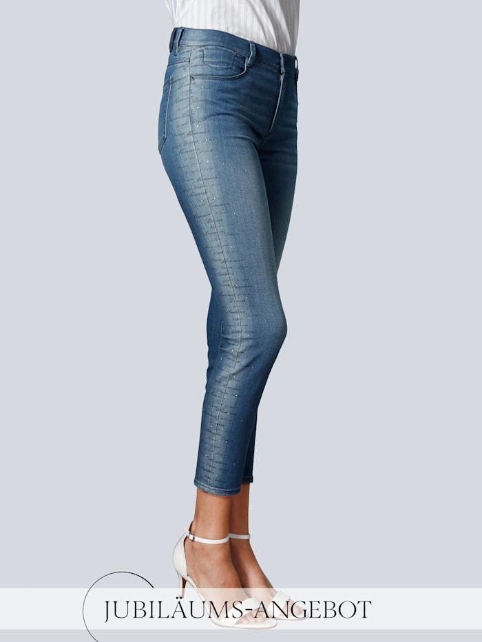 BRAX Jeans 'Ava S' im Alba Moda Exklusiv-Dessin, Blau