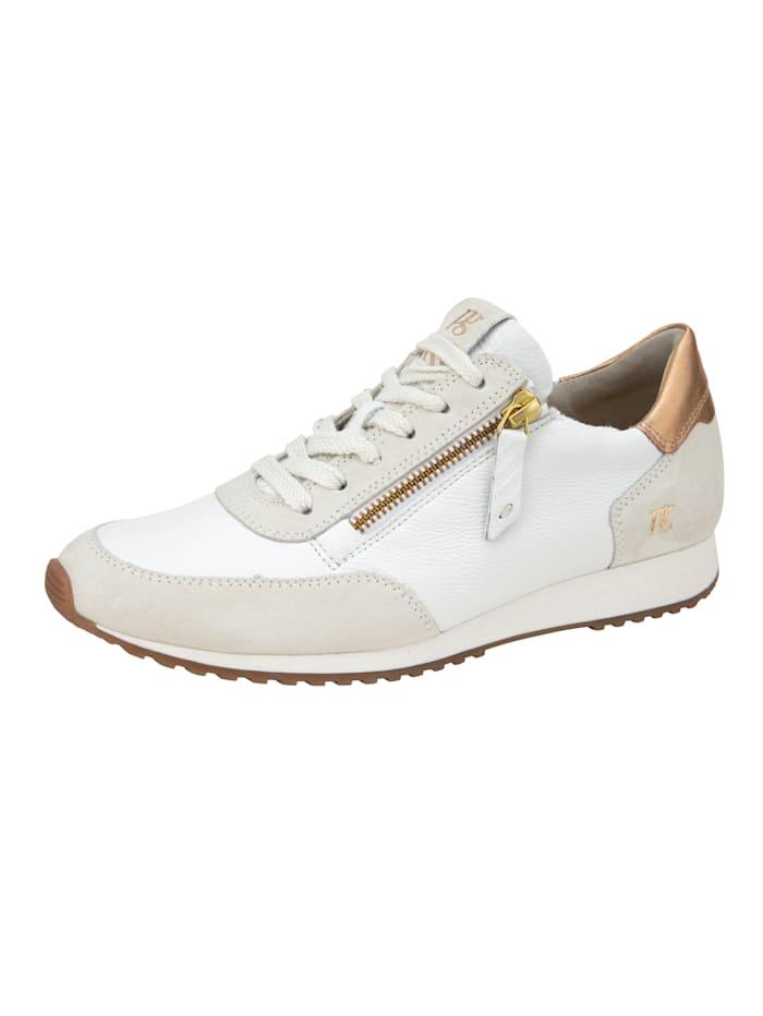 Paul Green Sneaker mit SUPER SOFT Ausstattung, Weiß/Goldfarben