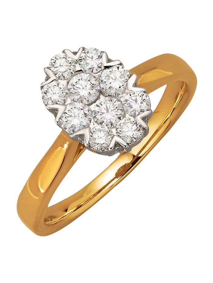 Diemer Diamant Damenring mit 26 Brillanten, Weiß
