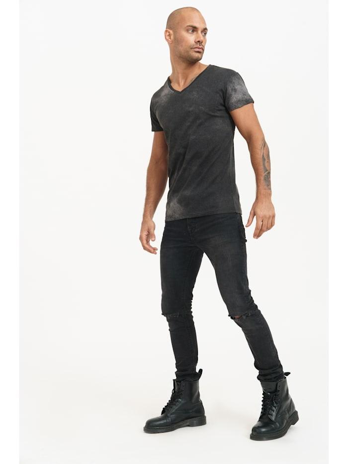 trueprodigy T-Shirt Jean mit coolem Backprint, 2999-Black