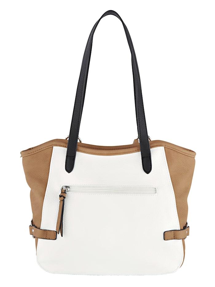 Handbag with rhinestones