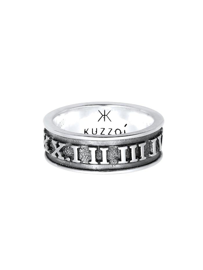 Ring Herren Bandring Römische Zahlen 925 Silber