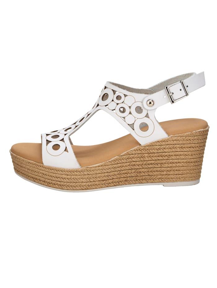 Sandaaltje met zomerse openingen