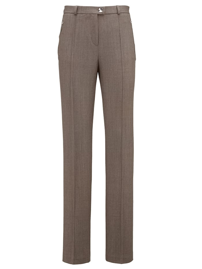 Paola Wollhose Frieda straight, Taupe